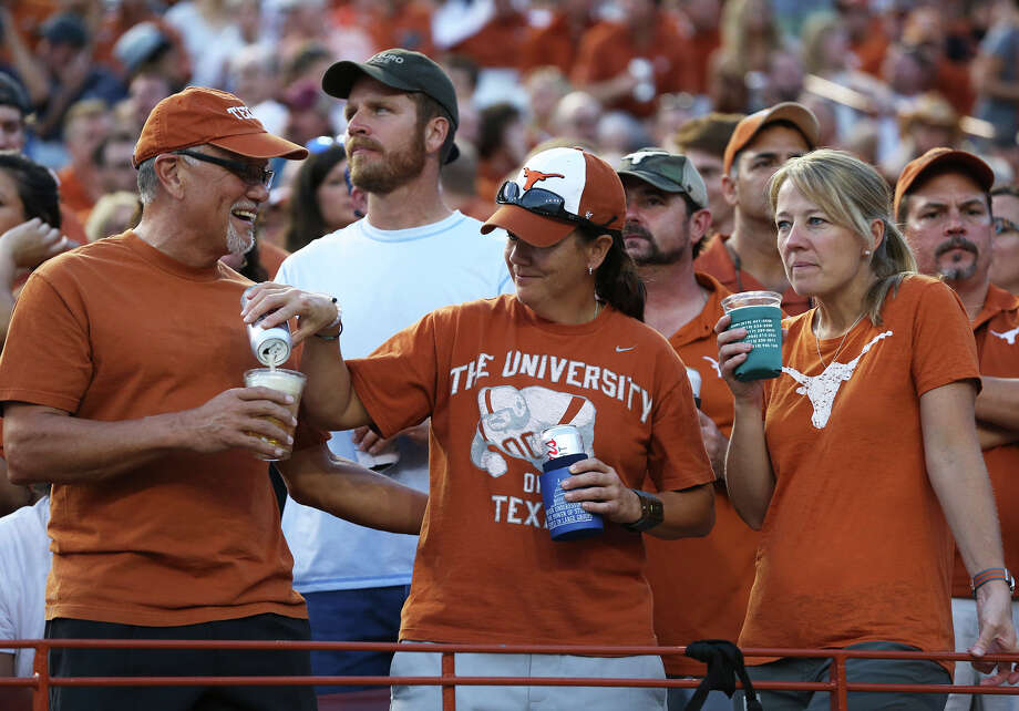 beer is sold in the stadium asTexas hosts the Rice Owls at DKR Stadium in Austin on  September 12, 2015. Photo: Tom Reel / San Antonio Express-News