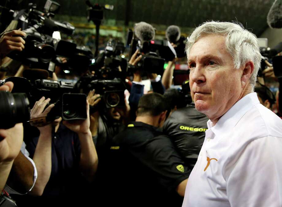 Mack Brown has no regrets and expresses no bitterness at how his tenure at UT ended in 2013. Photo: Ronald Martinez, Staff / 2013 Getty Images