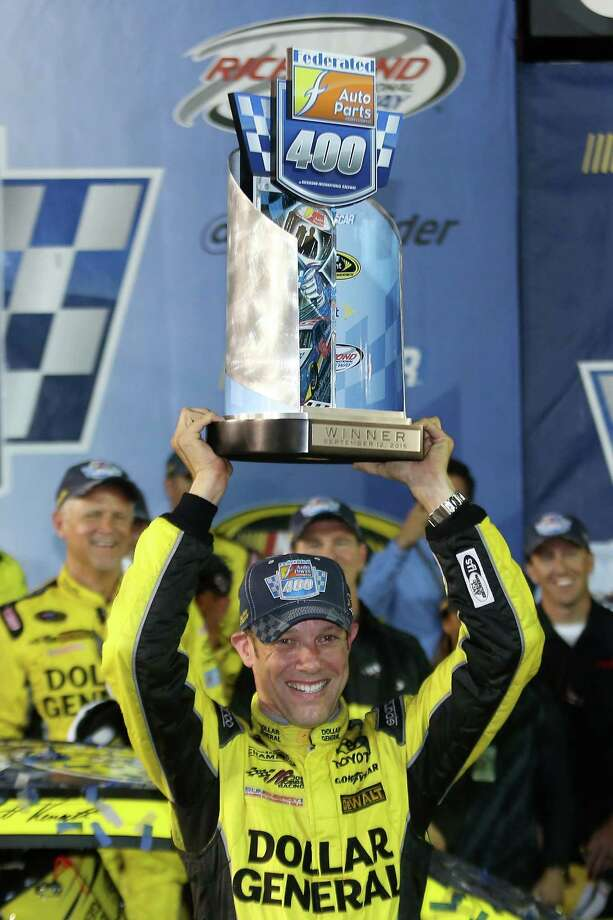 RICHMOND, VA - SEPTEMBER 12:  Matt Kenseth, driver of the #20 Dollar General Toyota, celebrates in Victory Lane after winning the NASCAR Sprint Cup Series Federated Auto Parts 400 at Richmond International Raceway on September 12, 2015 in Richmond, Virginia.  (Photo by Matt Hazlett/Getty Images) ORG XMIT: 576865687 Photo: Matt Hazlett / 2015 Getty Images