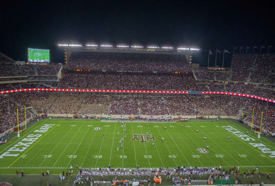 Kyle Field is viewed during an NCAA college football game between Ball State and Texas A&M, Saturday, Sept. 12, 2015, in College Station, Texas. Texas A&M won 56-23. (AP Photo/Bob Levey) Photo: Bob Levey, FRE / Associated Press / FR156786 AP