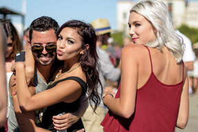 Texas State football fans and students partied hard at an epic tailgate bash before the Bobcats destroyed Prairie View A&M.