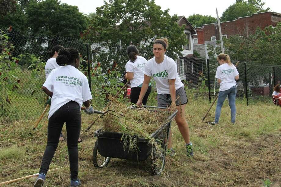 Were you Seen at Reach Out Saint Rose, The College of Saint Rose's annual day of community service throughout the Capital Region on Saturday, Sept. 12, 2015? Photo: Benjamin Marvin