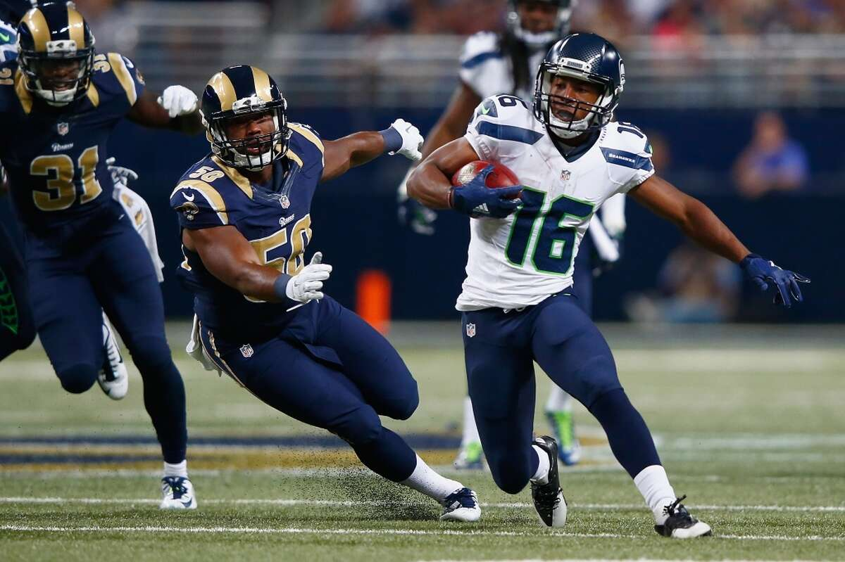 Lockett makes immediate impact Third-round pick Lockett was arguably Seattle's most impressive player during the preseason, returning both a kickoff and a punt for a touchdown in the four-game exhibition slate. On Sunday, he continued to show why the the Seahawks traded away three draft picks to move up and select him in May, returning a first-quarter punt 57 yards for a touchdown that put the Seahawks up 7-0. In addition to beign Seattle's first punt return score since 2007, Lockett's return had a chilling effect on Rams punter Johnny Hekker, a Bothell High School alum who is among the best punters in the game. On Hekker's next punt following Lockett's touchdown, which came with less than two minutes left in the half, he hit the ball just 35 yards in an attempt to kick the ball out of bounds away from Lockett. That allowed the Seahawks to start their final offensive drive of the half from their own 35-yard line, which resulted in a Hauschka field goal that made the score 10-10 at the break.