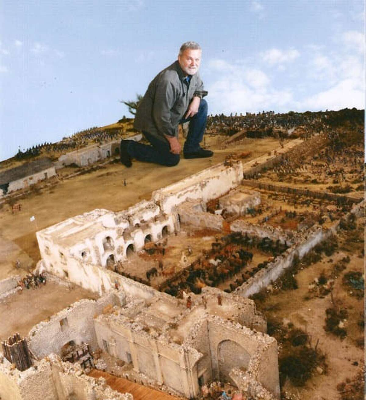 Thomas Feely said he spent countless hours over 12 years building a 24-foot-by-14-foot Alamo diorama that's stored in Pennsylvania.