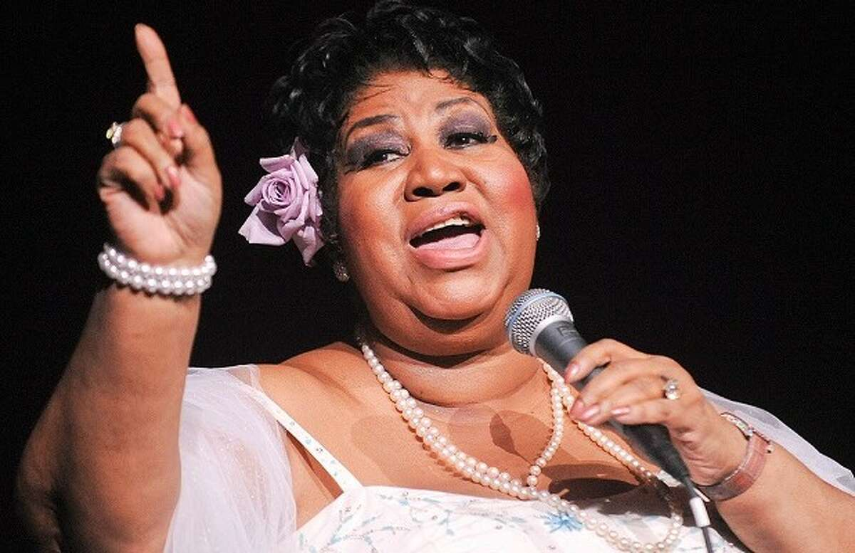 Aretha Franklin, who would hold her own against other legacy festival acts, including Guns 'N' Roses, Lionel Richie, and AC/DC.