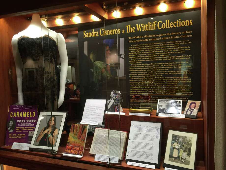 Sandra Cisneros exhibit at Wittlett Collections at Texas State University, where the author's papers are now being held. Photo: Courtesy / Courtesy