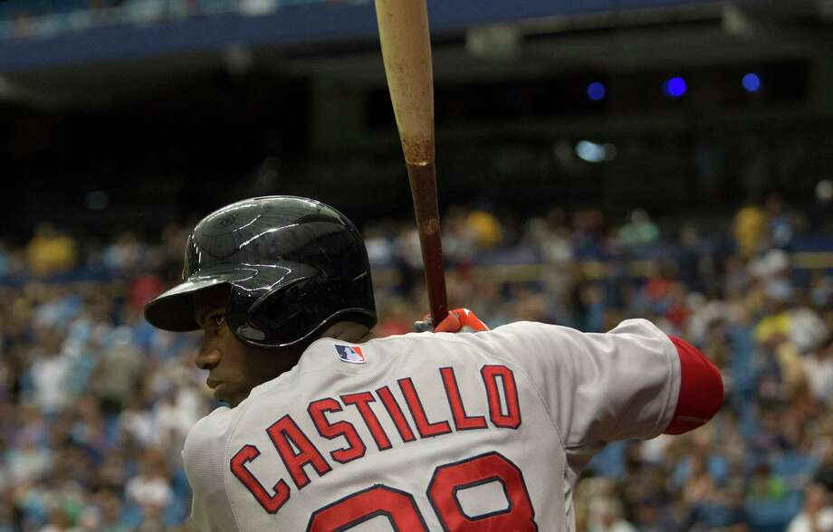 Boston Red Sox's Rusney Castillo waits in the on-deck circle during the fourth inning of a baseball game against the Tampa Bay Rays, Sunday, Sept. 13, 2015, in St. Petersburg, Fla.  (AP Photo/Luke Johnson) ORG XMIT: FLLJ109 Photo: Luke Johnson / FR171312 AP