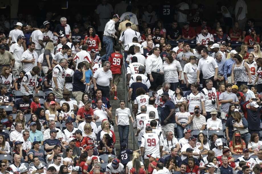 Houston Texans fans at NRG Stadium in September. Photo: Brett Coomer, Houston Chronicle