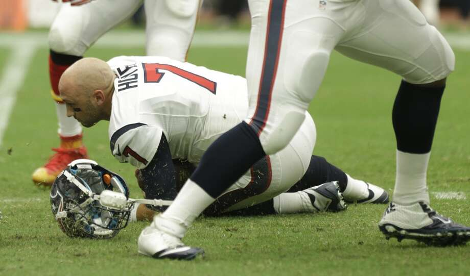 QUARTERBACKSAfter a disappointing debut in which he was off target too many times, Brian Hoyer was replaced by Ryan Mallett, who engineered a touchdown and field goal drive.  Grade: C Photo: Brett Coomer, Houston Chronicle
