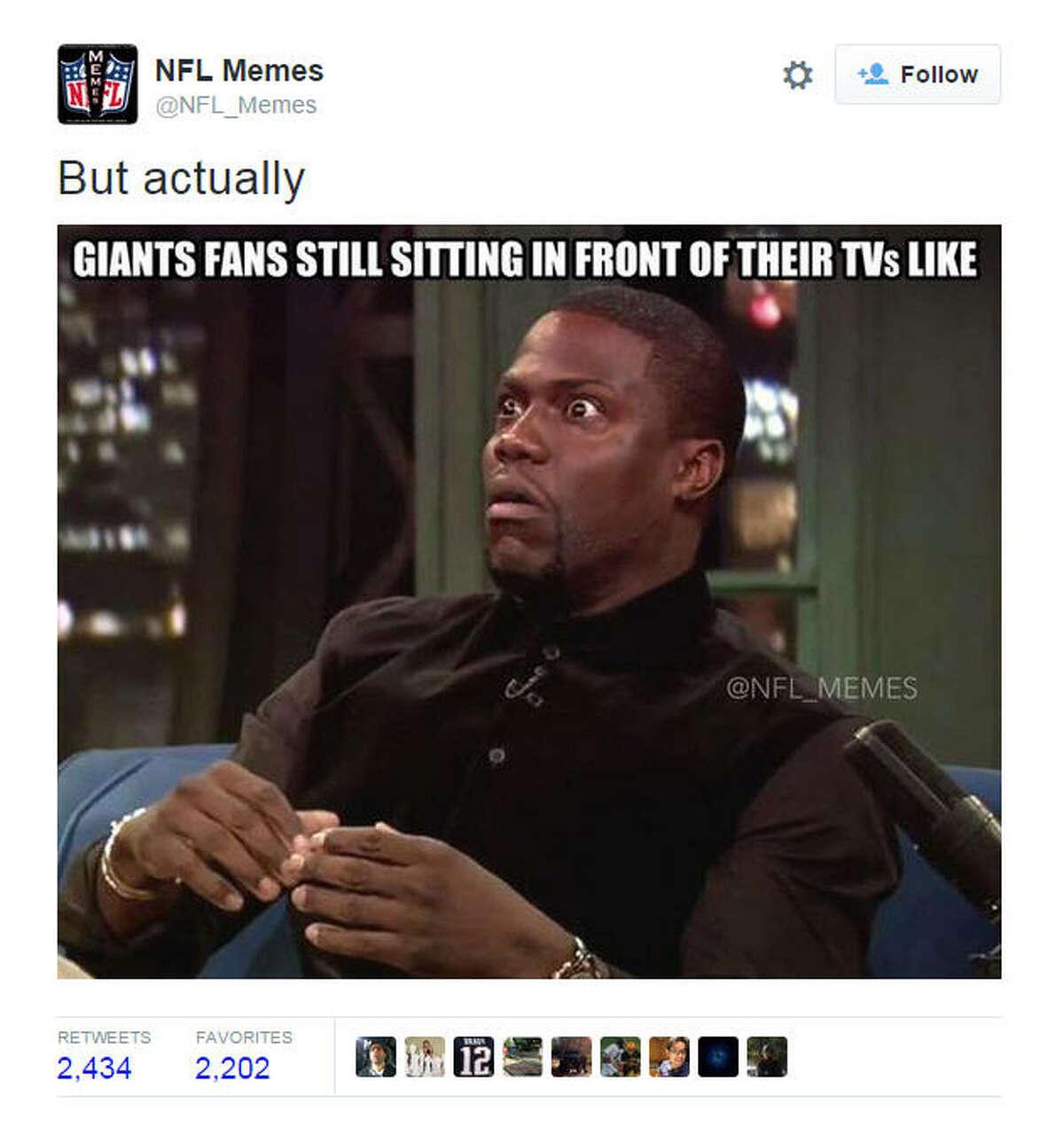 September 13 New York Giants vs. Dallas Cowboys 26-27 @NFL_Memes