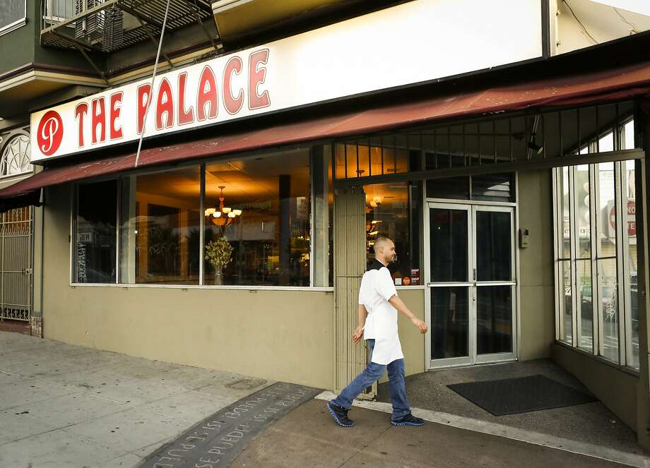 Chef Manny Torres walks a few minutes to his other restaurant, The Palace, on Thursday, Sept. 10, 2015 in San Francisco. Photo: Russell Yip, The Chronicle