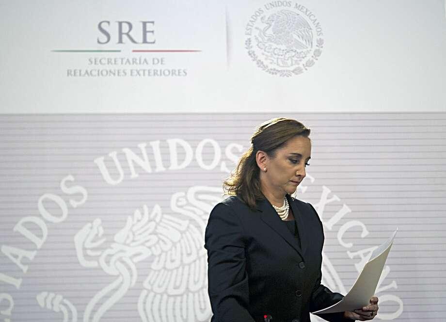 Mexico's Foreign Minister  Claudia Ruiz Massieu. Photo: Yuri Cortez, AFP / Getty Images