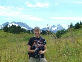 Anne Simons in Chugach National Forest, outside of Seward, Alaska.
