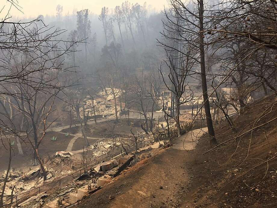 The resort at Harbin Hot Springs was destroyed by the Valley Fire that burned through Middletown Saturday night. Photo: Kurtis Alexander