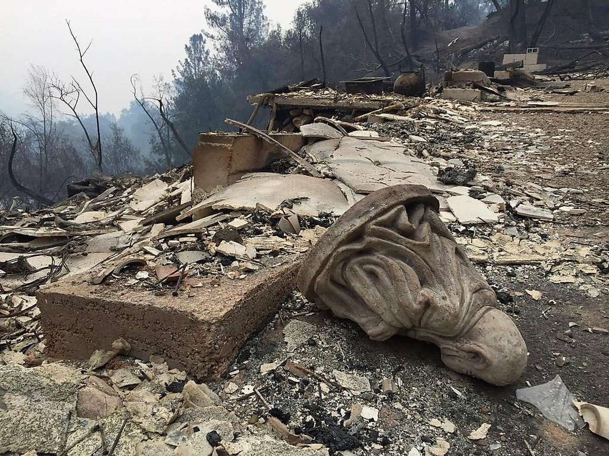 The resort at Harbin Hot Springs was destroyed by the Valley Fire that burned through Middletown Saturday night.