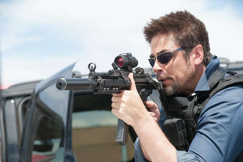 "Benicio Del Toro plays a soldier in the drug war on the side of law enforcement in ""Sicario."" Photo: Richard Foreman/Lionsgate, McClatchy-Tribune News Service"