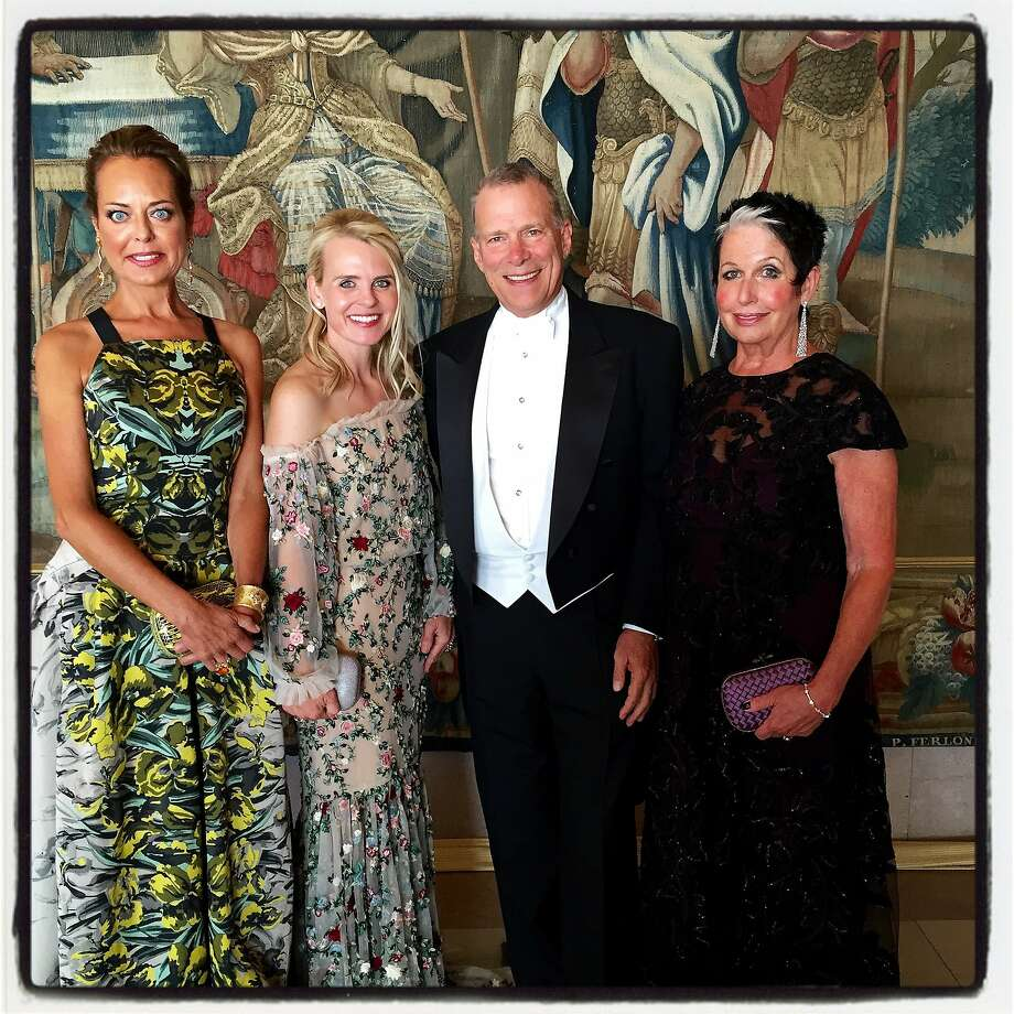 SF Opera Guild President Charlot Malin (left) with Opera Ball co-chair Jane Mudge, General Director David Gockley and ball co-chair Karen Kubin. Sept 2015 Photo: Catherine Bigelow, Special To The Chronicle