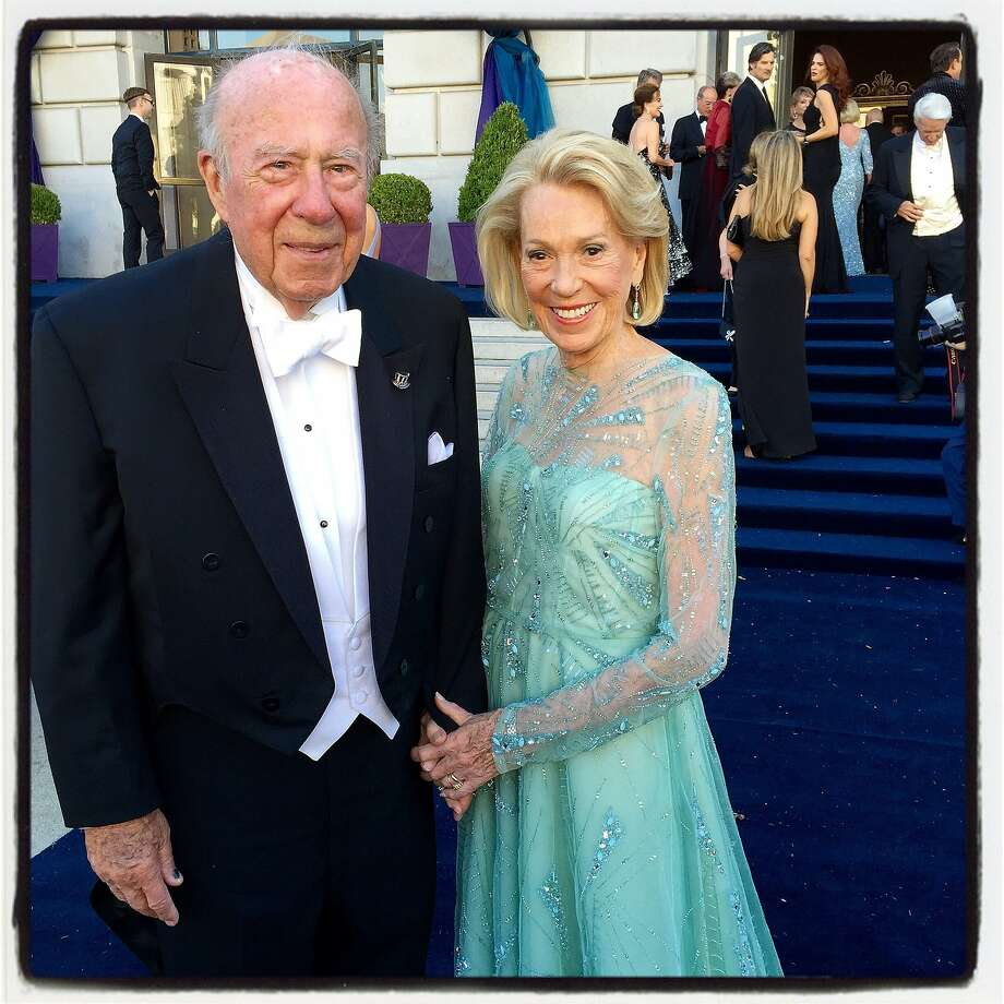 Former Secretary of State George Shultz and his misses, Protocol Chief Charlotte Shultz, at the 93rd SF Opera opening-night. Sept 2015. Photo: Catherine Bigelow, Special To The Chronicle