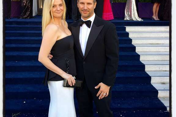 Restaurateur Anna Weinberg and husband, financier James Nicholas, at the 93rd SF Opera opening-night ball. Sept. 2015.