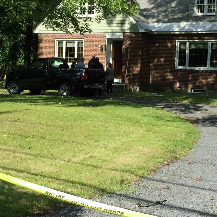 "Niskayuna detectives are investigating an ""unattended death"" at a home on Union Street, police said Monday, Sept. 14, 2015. (Mike Goodwin/Times Union)"