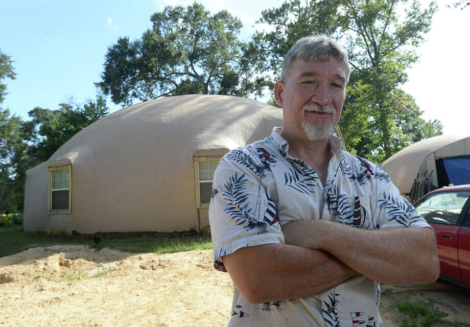 David Smith built a monolithic dome house on his family's property in Mauriceville after Hurricane Rita hit in September 2005. The home can withstand winds between 400 and 600 mph.  Photo: Kim Brent, Beaumont Enterprise / Beaumont Enterprise