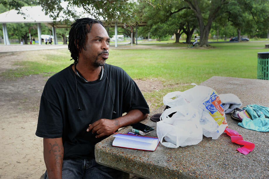 Beaumont resident Danny Williams said day-to-day living after Hurricane Rita was a challenge that he does not want his children to experience. Photo: Guiseppe Barranco, Beaumont Enterprise