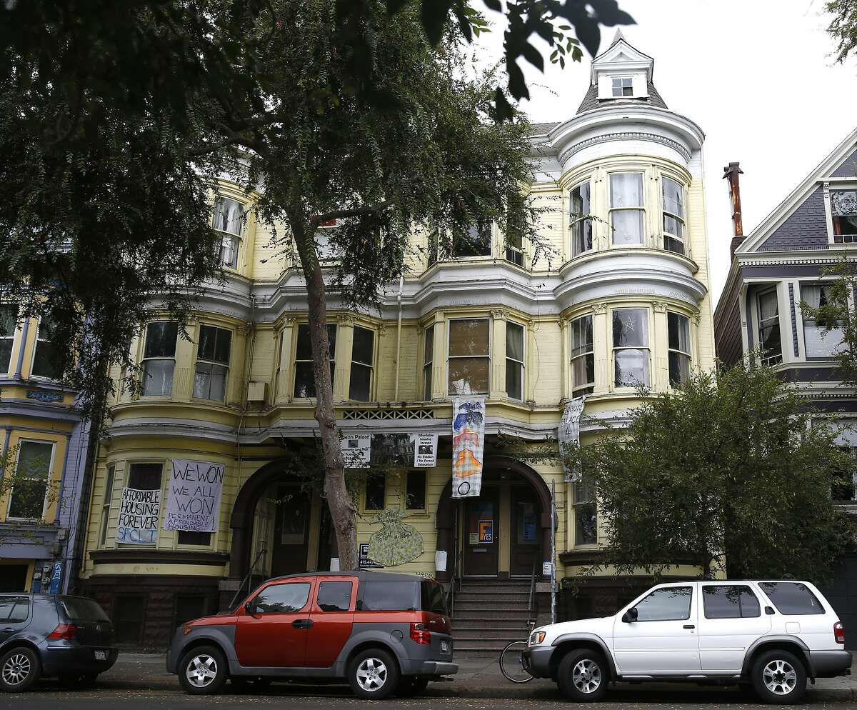 Tenants in this building were nearly evicted until the city stepped in to provide a $2 million loan so a nonprofit could purchase the historic six flat unit in San Francisco, Calif., on Monday, September 14, 2015.