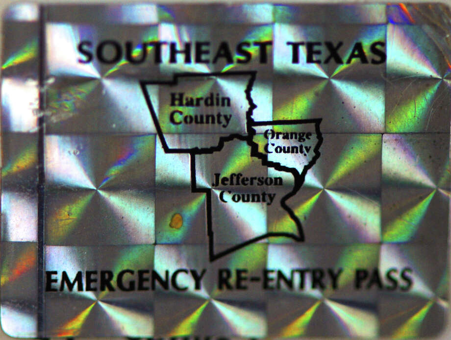 Special hologram stickers where given to hurricane recovery personnel. The stickers allowed access into Southeast Texas after Hurricane Rita passed and are no longer issued. Photo: Guiseppe Barranco, The Enterprise