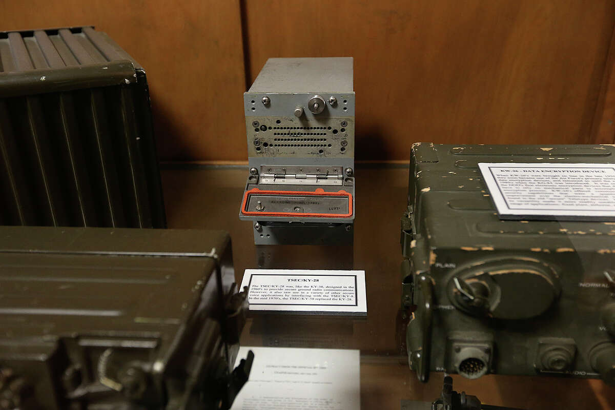 A case dedicated to secure ground communication devices is on display at the Heritage Center of the U.S. Air Force Intelligence Surveillance Reconnaissance Agency at Lackland Air Force Security Hill. In the center is a TSEC/KY-28 that was made in the 1960s.