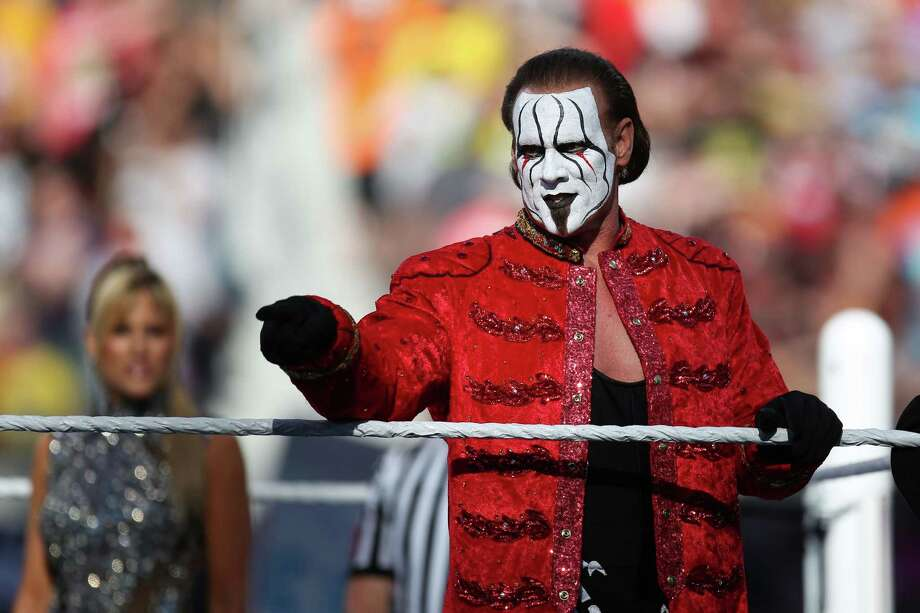 WWE Superstar Sting will make an appearance in Houston Sunday. Photo: Don Feria, FRE / AP Images