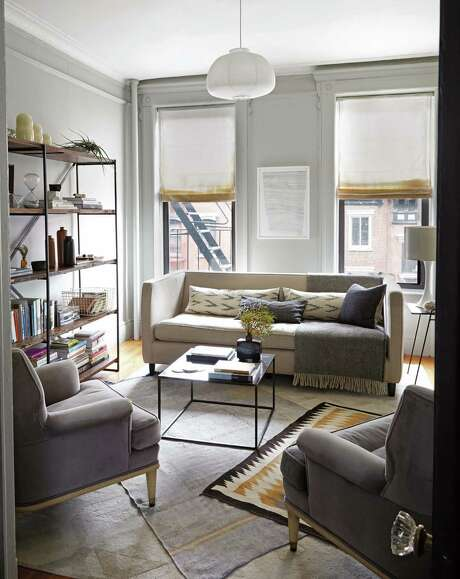 """This walk-up apartment in New York City is featured in """"Apartment Therapy: Complete & Happy Home"""" because it's arranged to have good """"flow."""" Photo: Melanie Acevedo"""