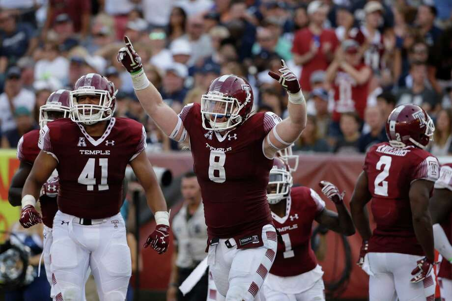 Temple's Tyler Matakevich (8) in action during an NCAA college football game against Penn State, Saturday, Sept. 5, 2015, in Philadelphia. (AP Photo/Matt Slocum) Photo: Matt Slocum / Associated Press / AP