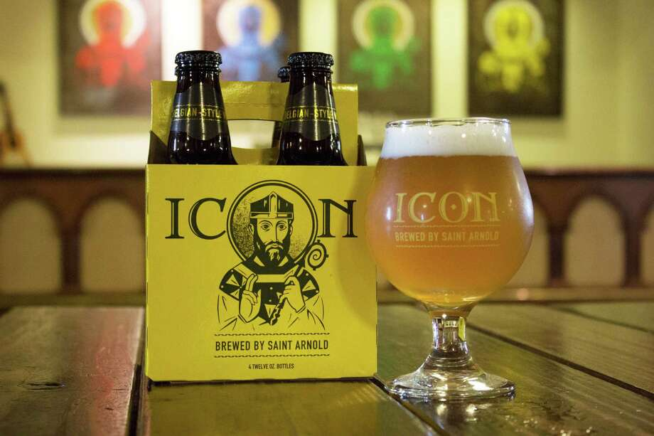 The Icon Gold released by Saint Arnold Brewing Co. in August is a Belgian witbier based on the old Celis White recipe. Photo: Saint Arnold Brewing Co.