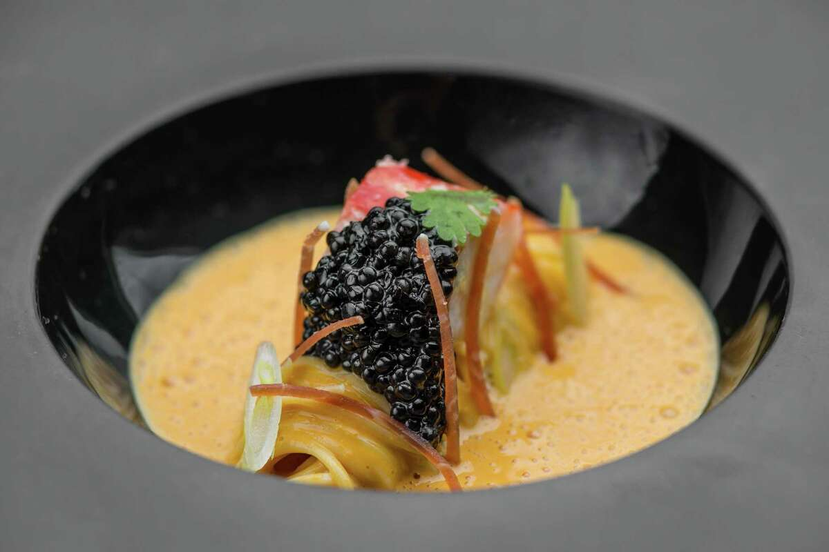 King crab and uni from Cureight at the Woodlands.