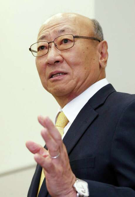 Tatsumi Kimishima, newly appointed president of Japanese videogame giant Nintendo speaks to reporters at the Osaka Stock Exchange in Osaka on September 14, 2015. Nintendo said it has appointed Kimishima as its new president two months after its chief executive Satoru Iwata died from cancer.   AFP PHOTO / JIJI PRESS    JAPAN OUTJIJI PRESS/AFP/Getty Images Photo: JIJI PRESS, Stringer / AFP