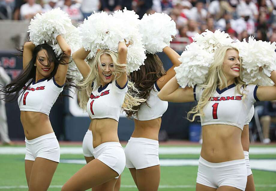 HOUSTON, TX - SEPTEMBER 13: The Houston Texans cheerleaders perform while the Texans play the Kansas City Chiefs in a NFL game on September 13, 2015 at NRG Stadium in Houston, Texas. Photo: Scott Halleran, Getty Images / 2015 Getty Images