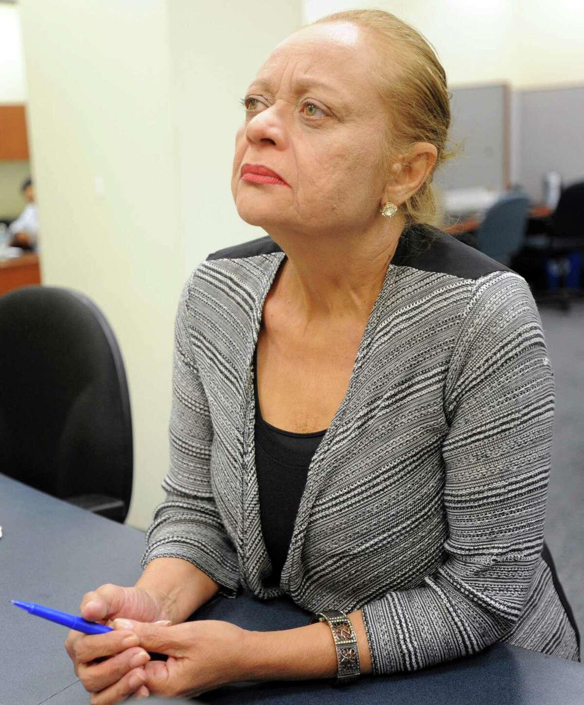 Democratic Voter Registrar Santa Ayala in her office in Bridgeport, Conn. in August.