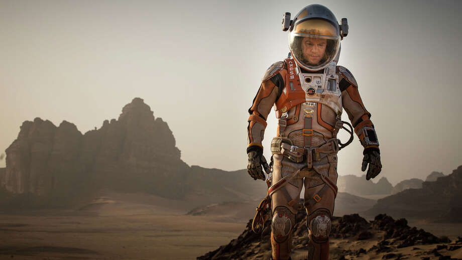 "Astronaut Matt Damon is left for dead after an accident in ""The Martian."" Photo: Aidan Monaghan /Associated Press / Toronto International Film Festi"