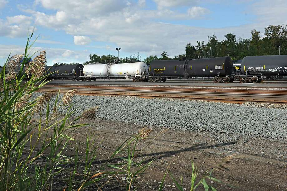 Oil trains are seen in a rail yard along I-90 on Monday, Sept. 14, 2015 in Albany, N.Y. (Lori Van Buren / Times Union) Photo: Lori Van Buren