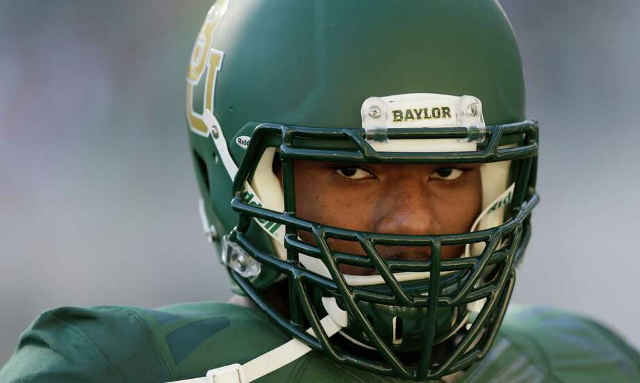 Baylor defensive end Shawn Oakman (2) warms up before an NCAA college football game Saturday, Sept. 12, 2015, in Waco, Texas. (AP Photo/LM Otero) Photo: LM Otero, STF / Associated Press / AP