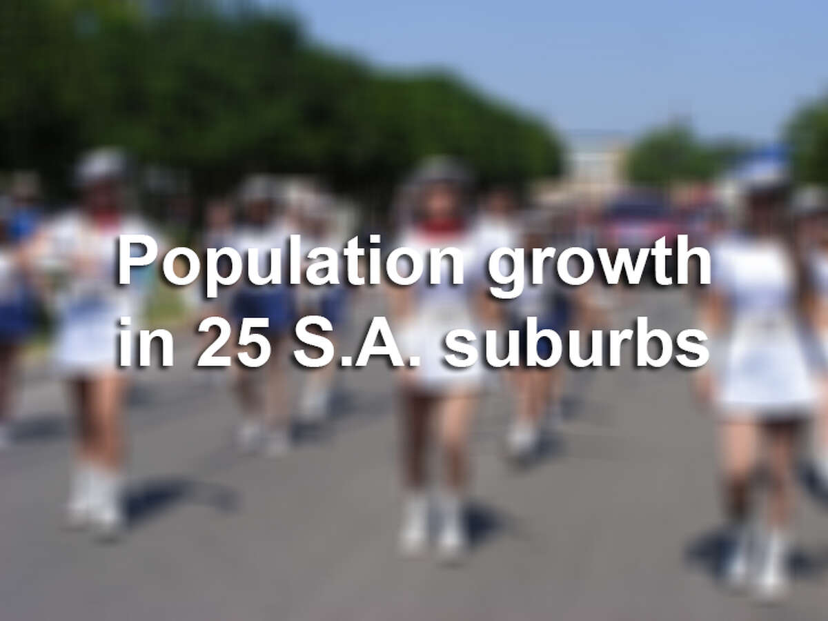 Good schools. Great history. Great Mexican food. Whatever the reason may be, the suburbs of San Antonio are projected to see significant growth - upwards of 50 percent in some cases - within the next five years. We've ranked 27 suburbs of San Antonio based on their projected population growth, according to numbers collected from the Texas Water Development Board and U.S. Census.
