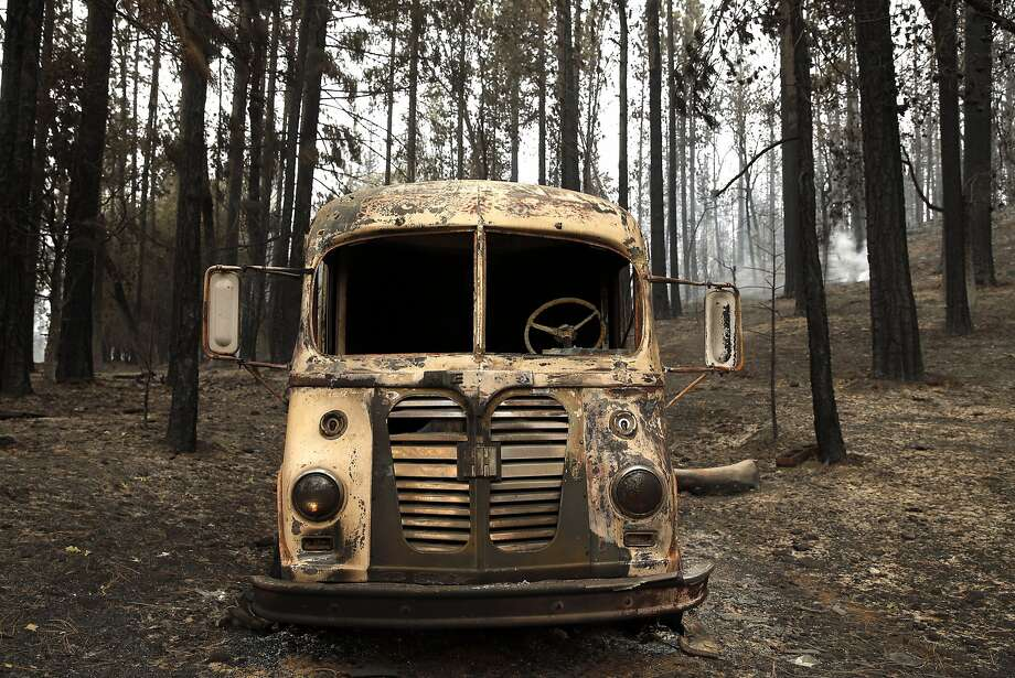A burnt out truck from the Valley Fire in Cobb, Calif., on Monday, September 14, 2015. Photo: Scott Strazzante, The Chronicle