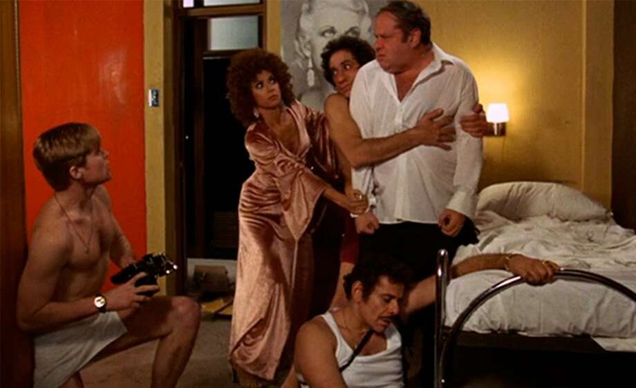 """In foreground, Jerry Stiller, then left to right, Treat Williams, Rita Moreno, F. Murray Abraham, and Jack Weston in the screwball farce """"The Ritz"""" (1976).  Photo: Courtesy of Warner Home Video Photo: Courtesy Of Warner Home Video"""