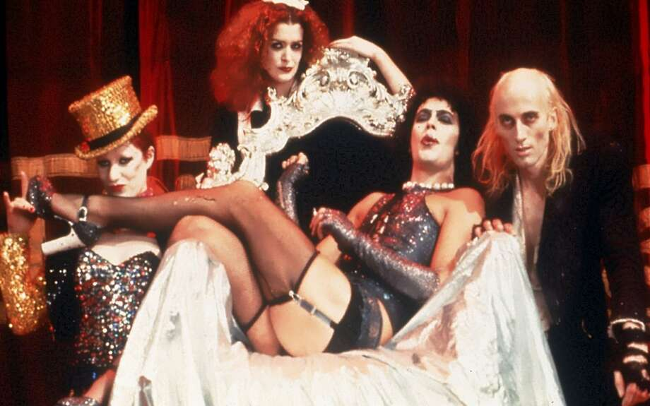"""From left to right, Little Nell, Patricia Quinn, Tim Curry, and Richard O'Brien in """"The Rocky Horror Picture Show"""" (1975).  Photo: Courtesy of 20th Century Fox Home Entertainment Photo: Courtesy Of 20th Century Fox Hom"""