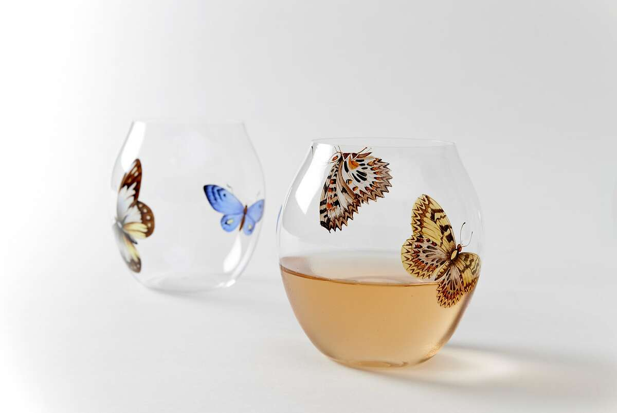 Lobmeyr Balloon Double Painted Butterfly glasses ($295) from March, 3075 Sacramento St., S.F.
