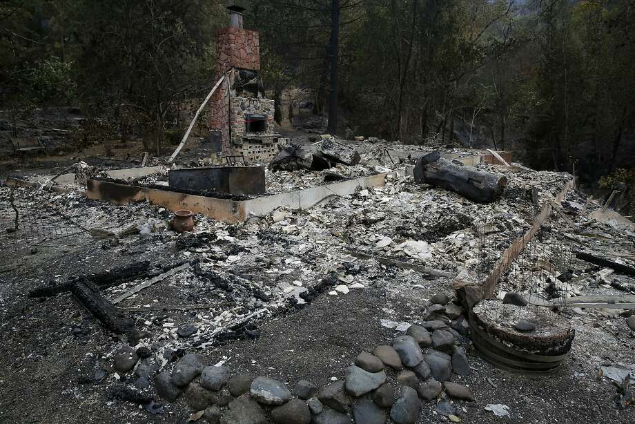 The burned down remnants of the home of Barbara McWilliams, 72, who died Saturday at this location outside Middletown, California, on Monday, Sept. 14, 2015. McWilliams is the Valley Fire's only confirmed fatality. Photo: Connor Radnovich, The Chronicle