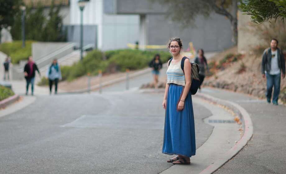 """Meghan Warner, a senior seen here on the UC Berkeley campus, is a student activist who advocated for the """"affirmative consent"""" policy. Photo: Nathaniel Y. Downes, The Chronicle"""