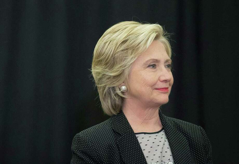 Democratic presidential candidate Hillary Clinton waits to be introduced at a campaign event at the University of Wisconsin-Milwaukee last week. Photo: Scott Olson / Getty Images / 2015 Getty Images