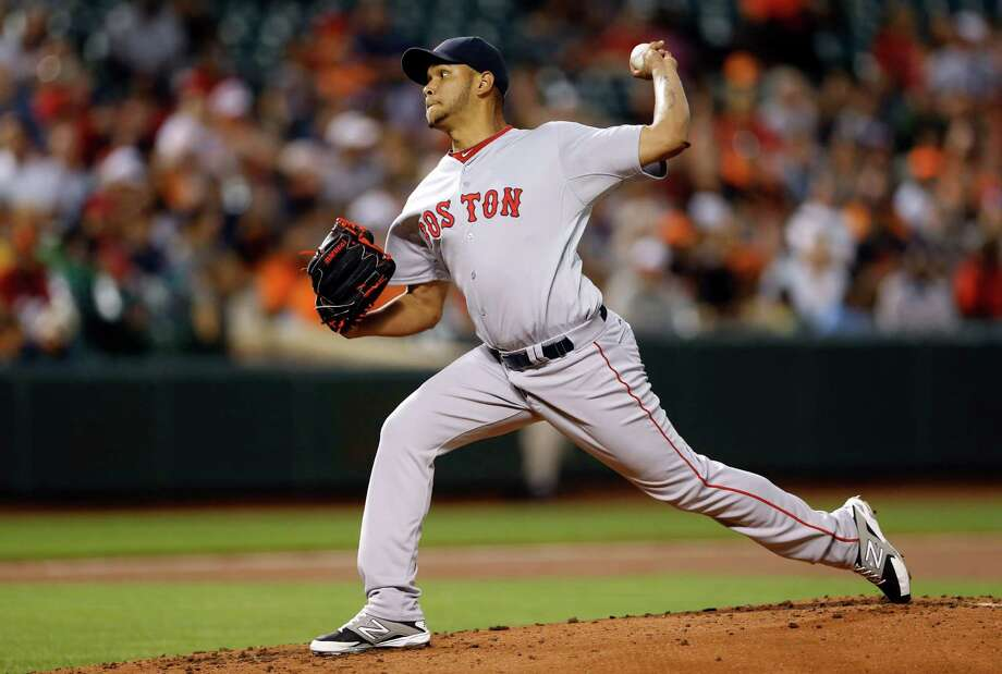 Boston Red Sox starting pitcher Eduardo Rodriguez throws to the Baltimore Orioles in the first inning of a baseball game, Monday, Sept. 14, 2015, in Baltimore. (AP Photo/Patrick Semansky) ORG XMIT: BAB101 Photo: Patrick Semansky / AP