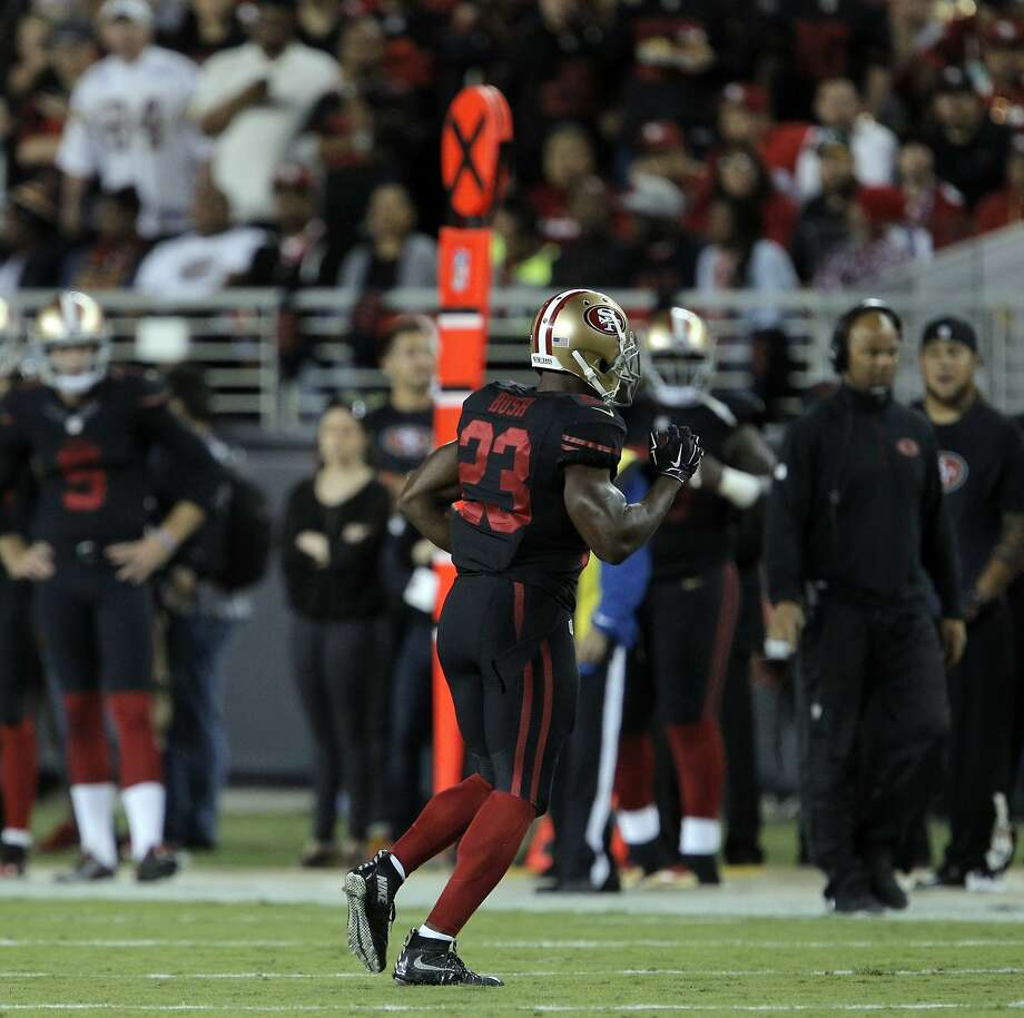 Reggie Bush (23) limps off the field during the 49ers game against the Minnesota Vikings at Levi's Stadium in Santa Clara, Calif., on Monday, September 14, 2015. Photo: Carlos Avila Gonzalez, The Chronicle